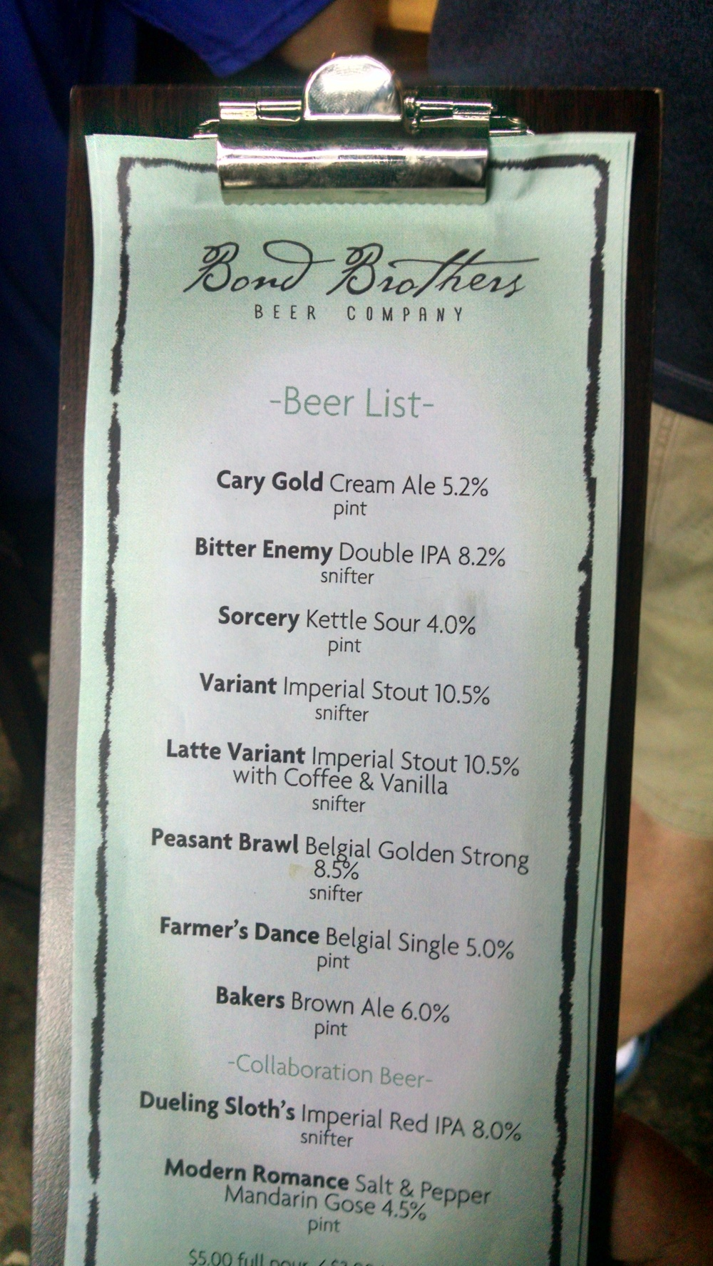 BBBC Beerlist